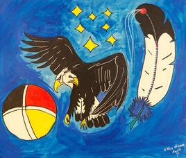 2 faces eagle