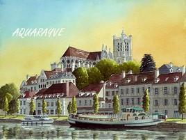 Auxerre au crépuscule