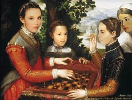 """Adjani à tous les âges revisite """"La Partie d'Echecs""""  de Sofonisba Anguissola"""