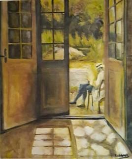 Le peintre au repos