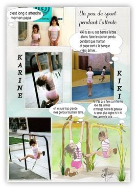 CONTORSION DES FILLES AU JARDIN D ENFANTS  ..(photos et dessin).pour le défi Miouchka .