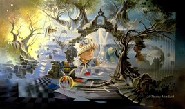 """Toile """"ARC EN CIEL pour 2 MONDES"""" 2012"""