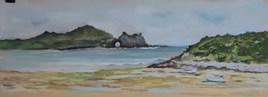 Bord de plage à Crozon en Bretagne