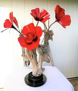 Fleurs rouge
