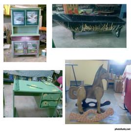 Petits meubles rénovés
