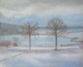 Lac des Taillères en hiver 1