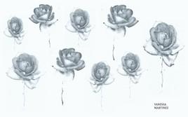 """""""Notes florales noires et blanches"""" de Vanessa Martinez 2018"""