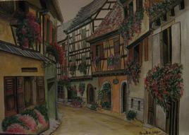 Maisons à colombages d'Eguisheim,