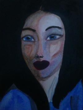 portrait regard bleu