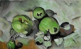 Mes trois pommes, en hommage à Cézanne