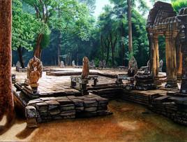 La terrasse du Banteay Kdei à 10h