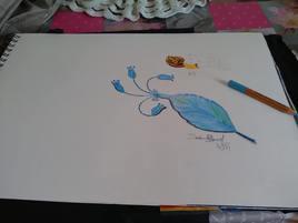 Petite plume bleue