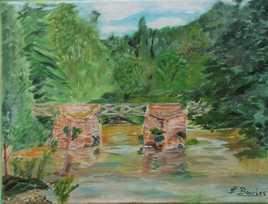 Le Pont de bois a FRESSELINE  (CREUSE)