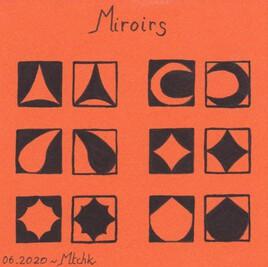 Miroirs en bichromie orangée et noire