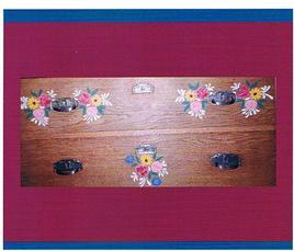 peinture paysanne d'Alsace sur meuble