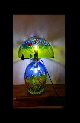 Lampe en verre