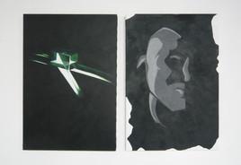 Sim Ili Art (Green & Grey)