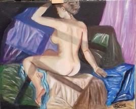 Amoureuse - (peinture en cours de finition)