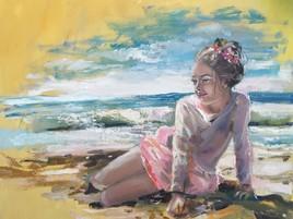 Une fille et la mer
