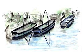 Barques au repos