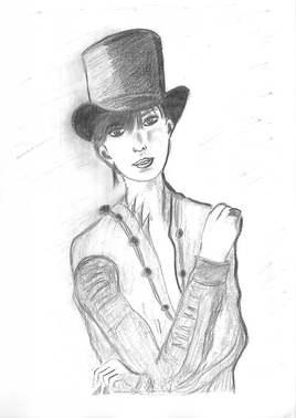 femme chapeau Haut de Forme