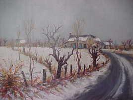 """Paul Jallat """"paysage d'hiver"""""""