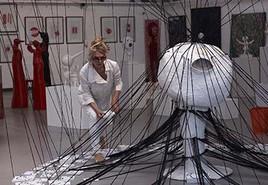 Pascale Fournier, Performance avec l'artiste Simon Binna - 2013