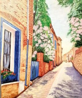 Rue d'une maison ancienne dans un village catalan