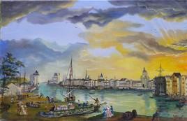 Port de la Rochelle au 18 ème siècle