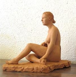 étude de nu accoudé