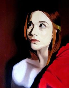 Autoportrait rouge