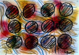 Acrylique ,pastel  ,peinture  marqueur