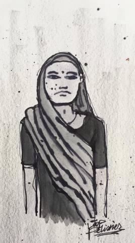 Femme en sari