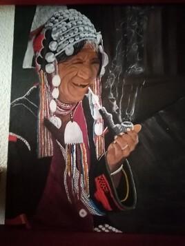 fumeuse a la pipe Tailandaise