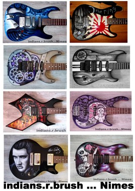 guitar airbrush custom design N3