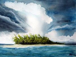 Une ile entre le ciel et l'eau ♫ ♫