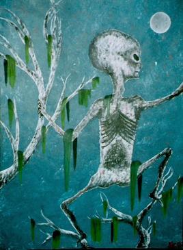 alien sous la lune