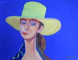 La dame au chapeau jaune .