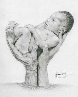 Portée de bras enfantine, par PORTRAIT éMOI