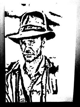 Portrait de Indiana Jones - Harrison Ford