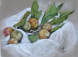pastel fruits