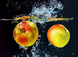 Plongée de pommes