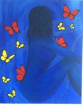 La belle aux papillons