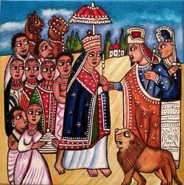 La rencontre de la Reine de Saba avec le Roi Salomon