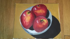 3 pommes rouges