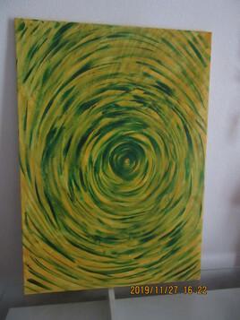spirale verte et jaune grand modèle