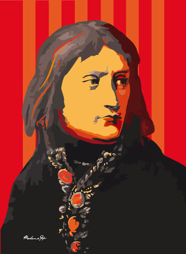 Portrait de Bonaparte, pop art