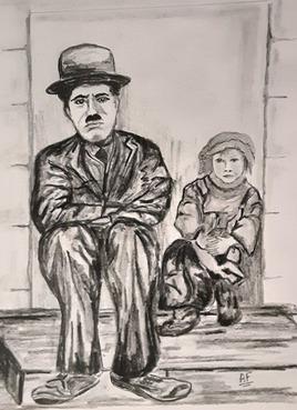 chaplin et l'enfant