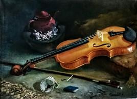 Nature morte avec violon