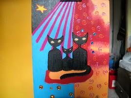 Tableau des 3 chats